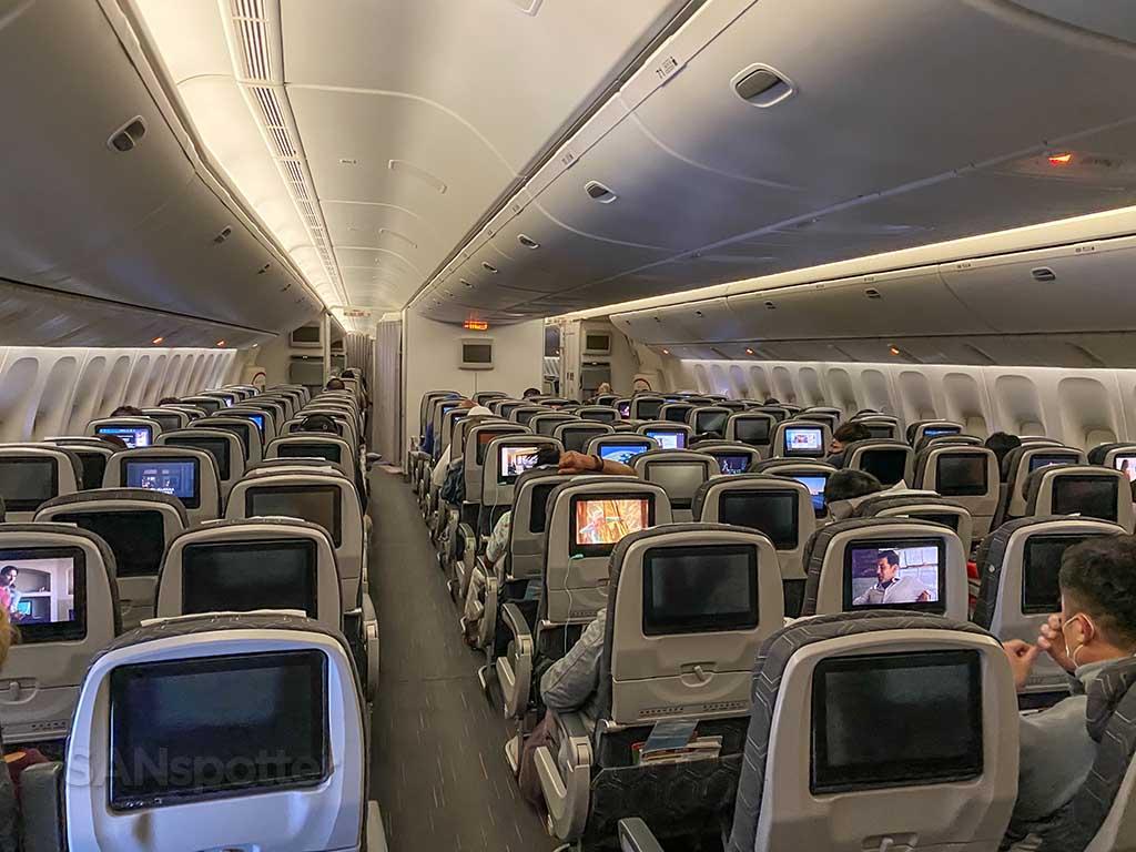 EVA Air economy class 777-300