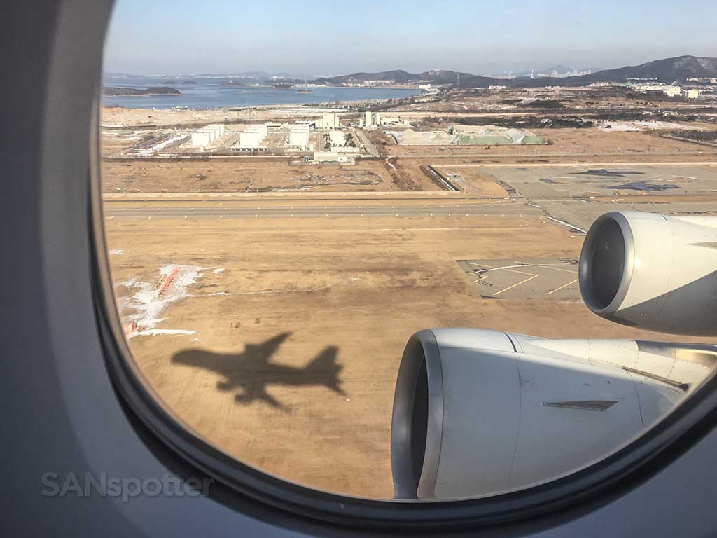 A380 takeoff from inside