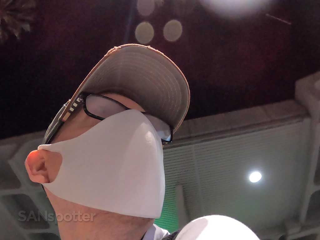 SANspotter selfie fogged up glasses