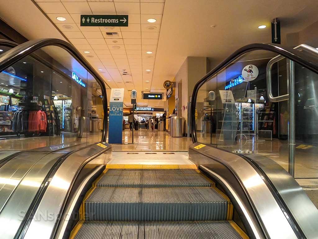 San Diego Airport terminal 1 escalators