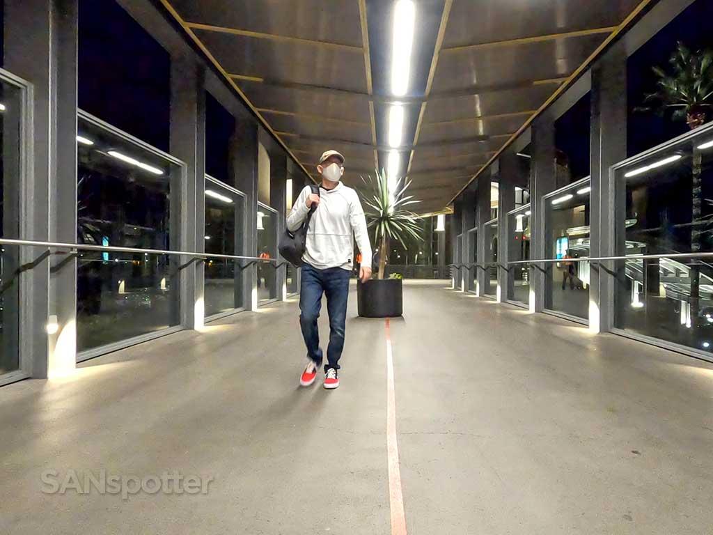 SANspotter selfie terminal 1 walkway SAN