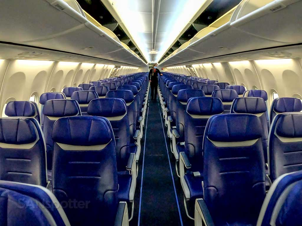 Southwest Airlines 737-800 new interior