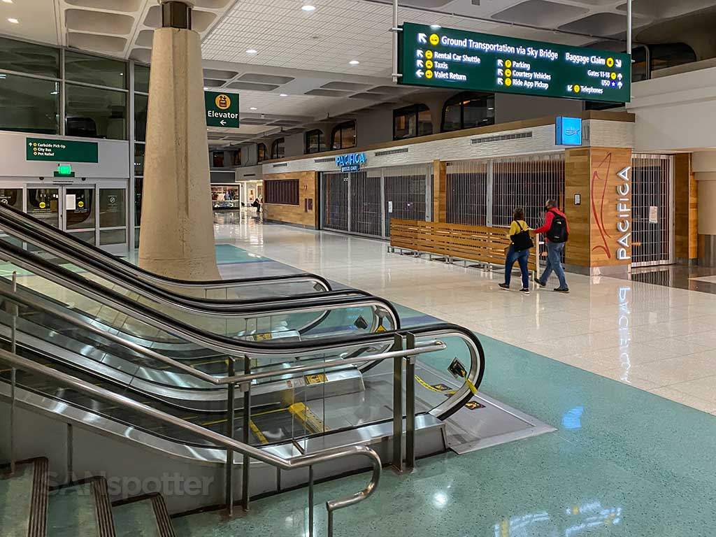 SAN Airport terminal 1 interior land side