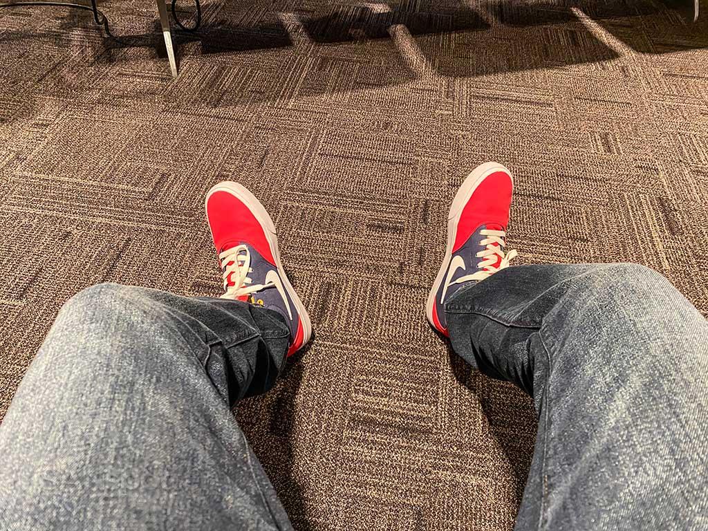 SANspotter red shoes 2020