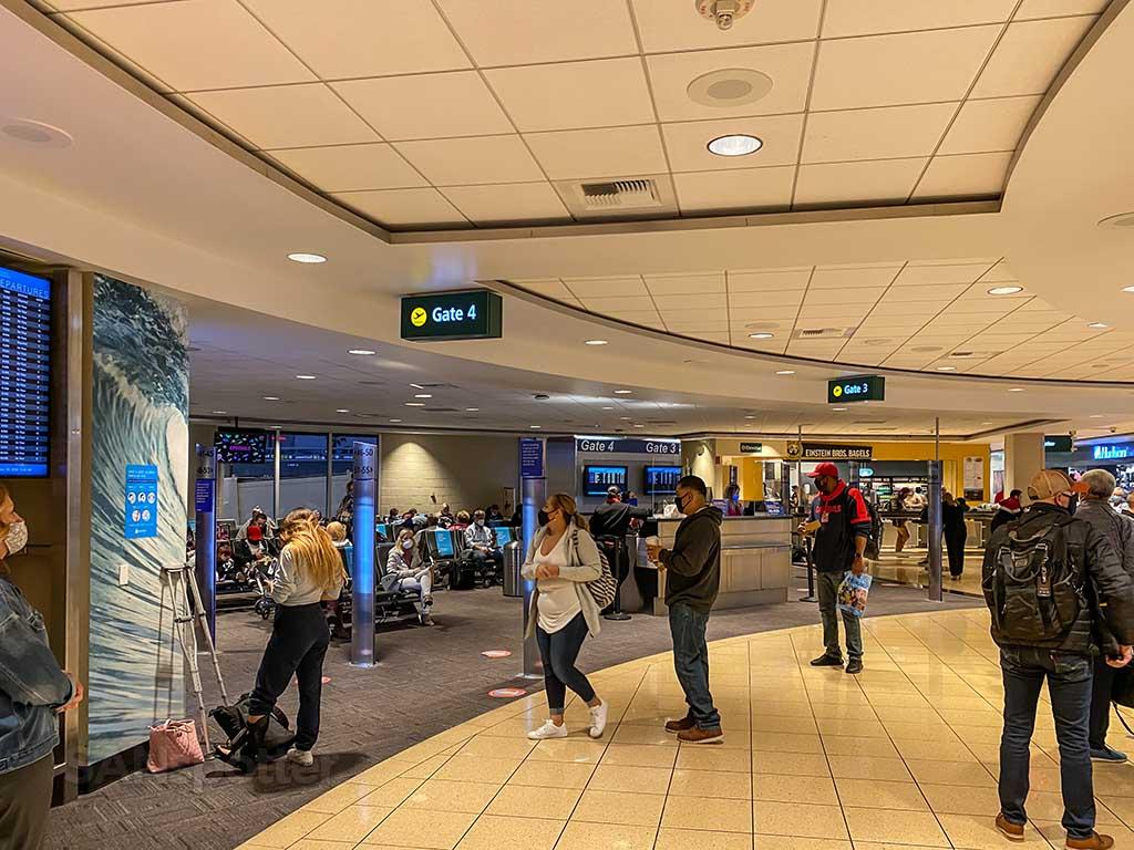 San Diego airport social distancing terminal 1