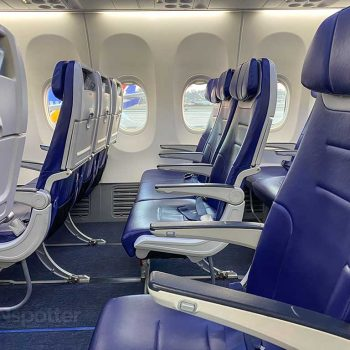 new seats on the Southwest Airlines 737-800