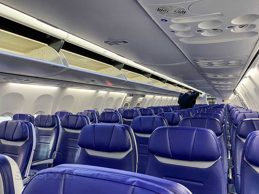 what does the new Southwest Airlines interior look like?