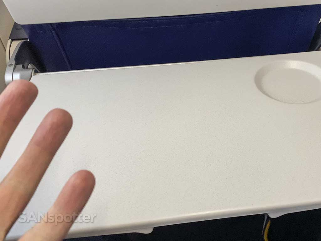 Southwest Airlines 737-800 tray table