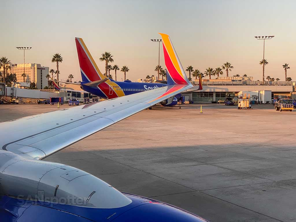 Southwest Airlines 737-800 wing
