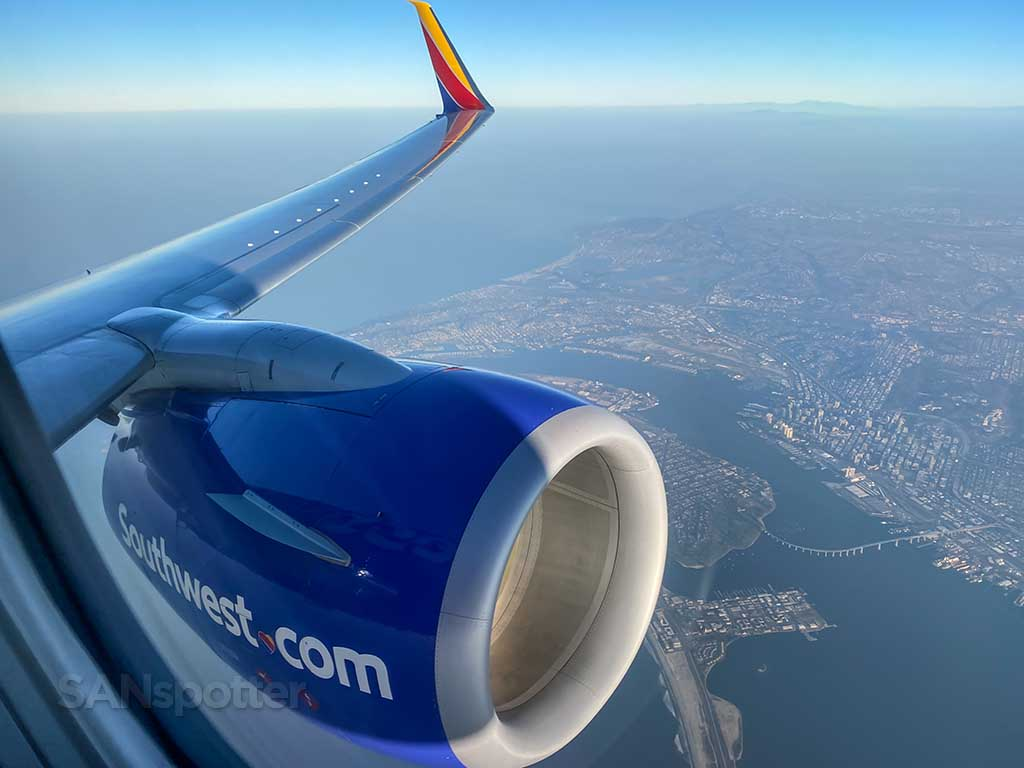Southwest Airlines takeoff from SAN