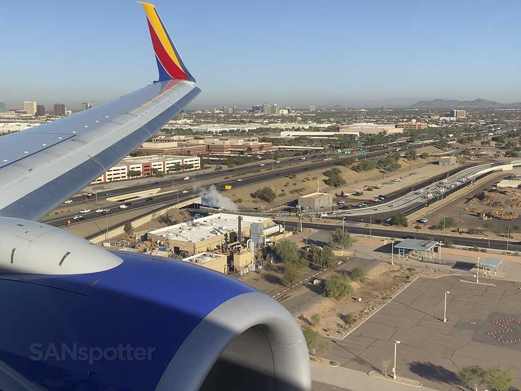 Arrival at PHX airport in Arizona