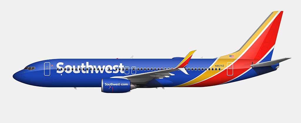 Southwest Airlines 737 livery