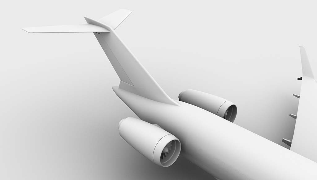 Boeing 727-300 tail section