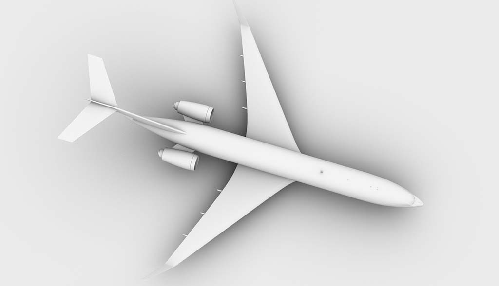 Boeing 727-300 top view