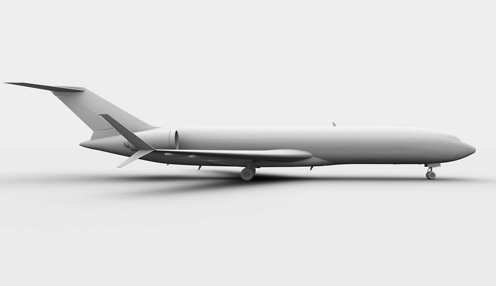 Boeing 727-300 side view