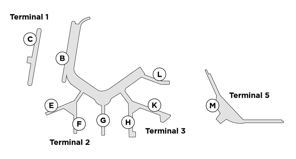 Chicago ORD terminal map