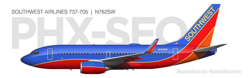 Southwest Airlines 737-700 side profile