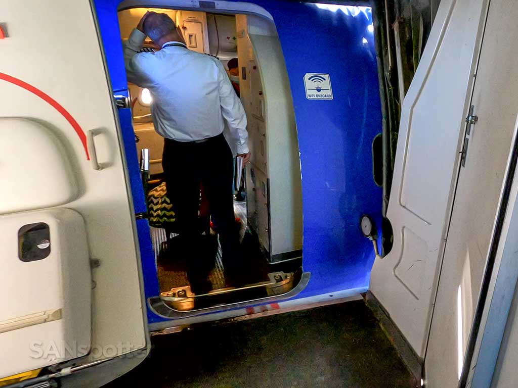 Southwest Airlines 737-700 boarding door