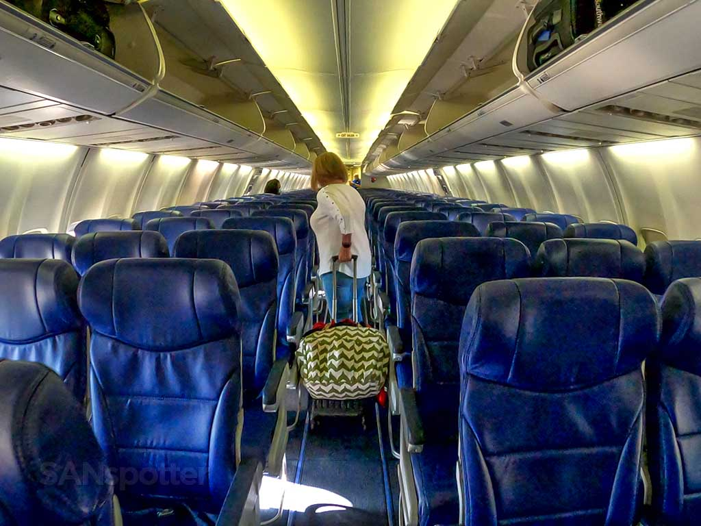 Southwest Airlines 737-700 updated interior