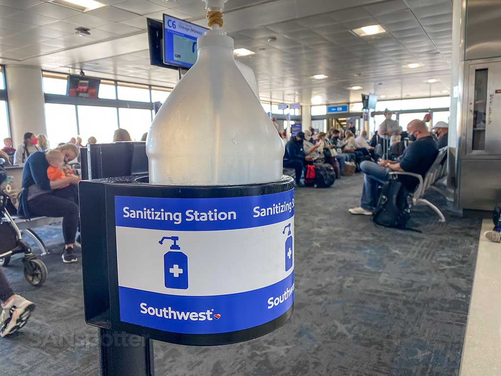 PHX airport hand sanitizer
