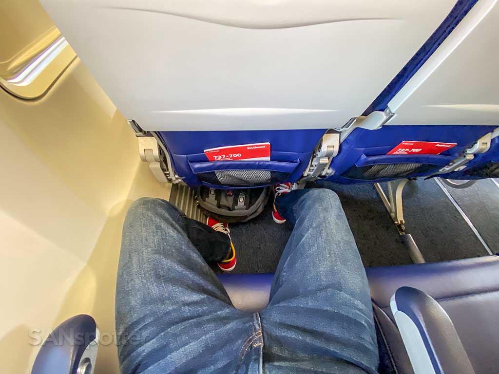 Southwest Airlines 737-700 leg room