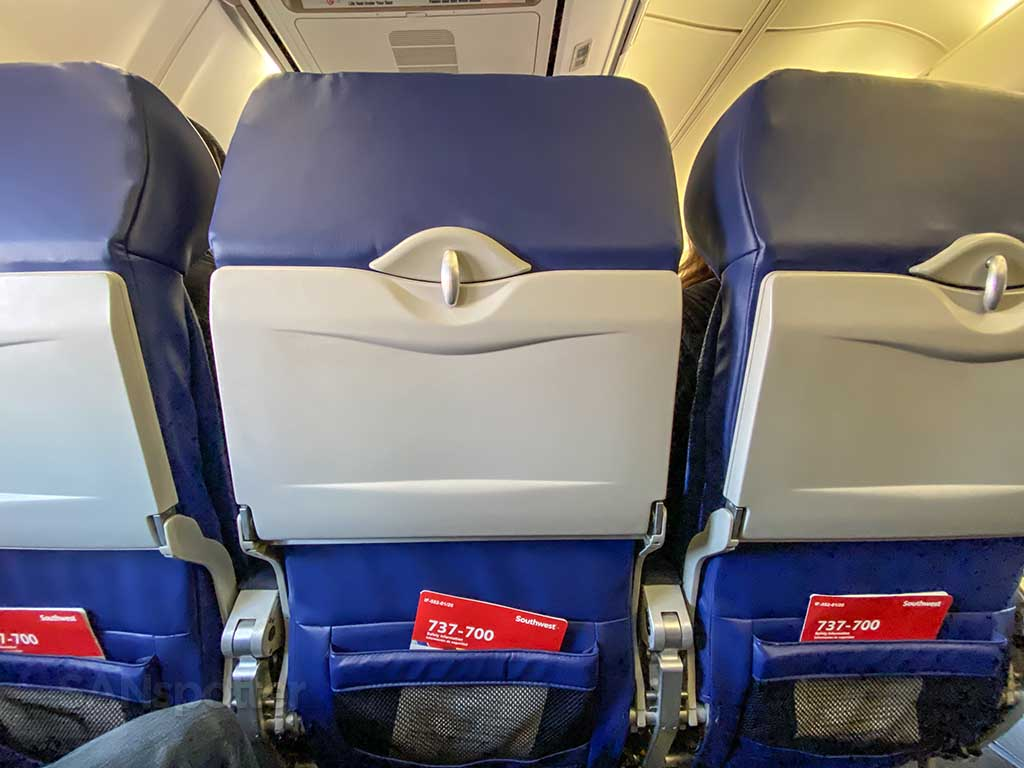 Southwest Airlines 737-700 seat back