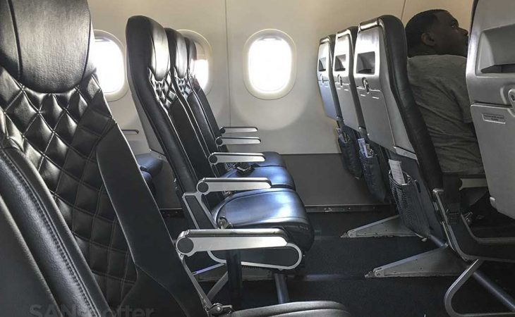 Frontier Airlines Stretch seat