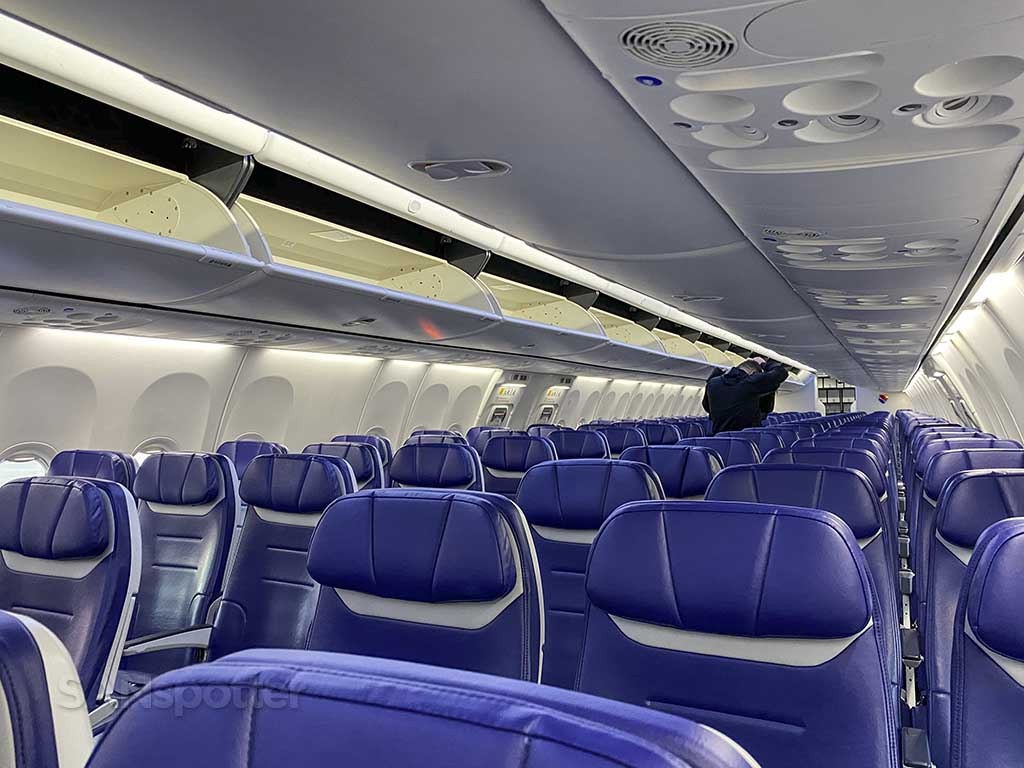 all new Southwest Airlines interior
