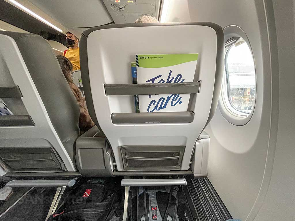 Alaska Airlines 737 MAX 9 first class seat
