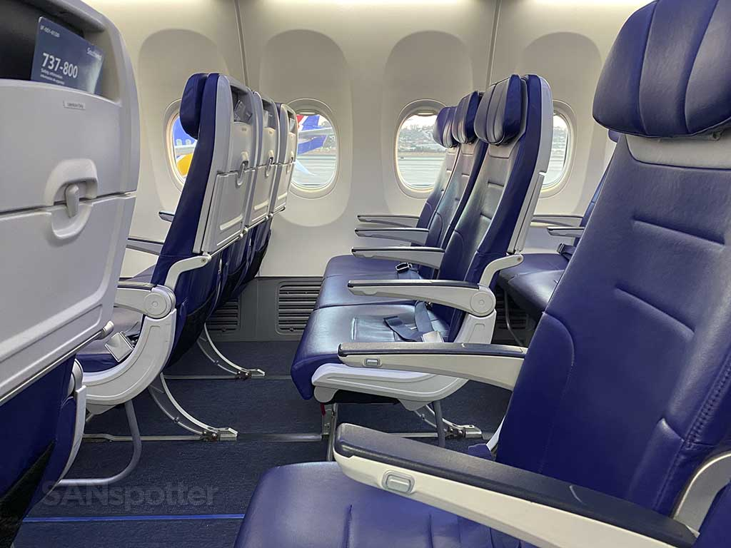 Southwest Airlines seats
