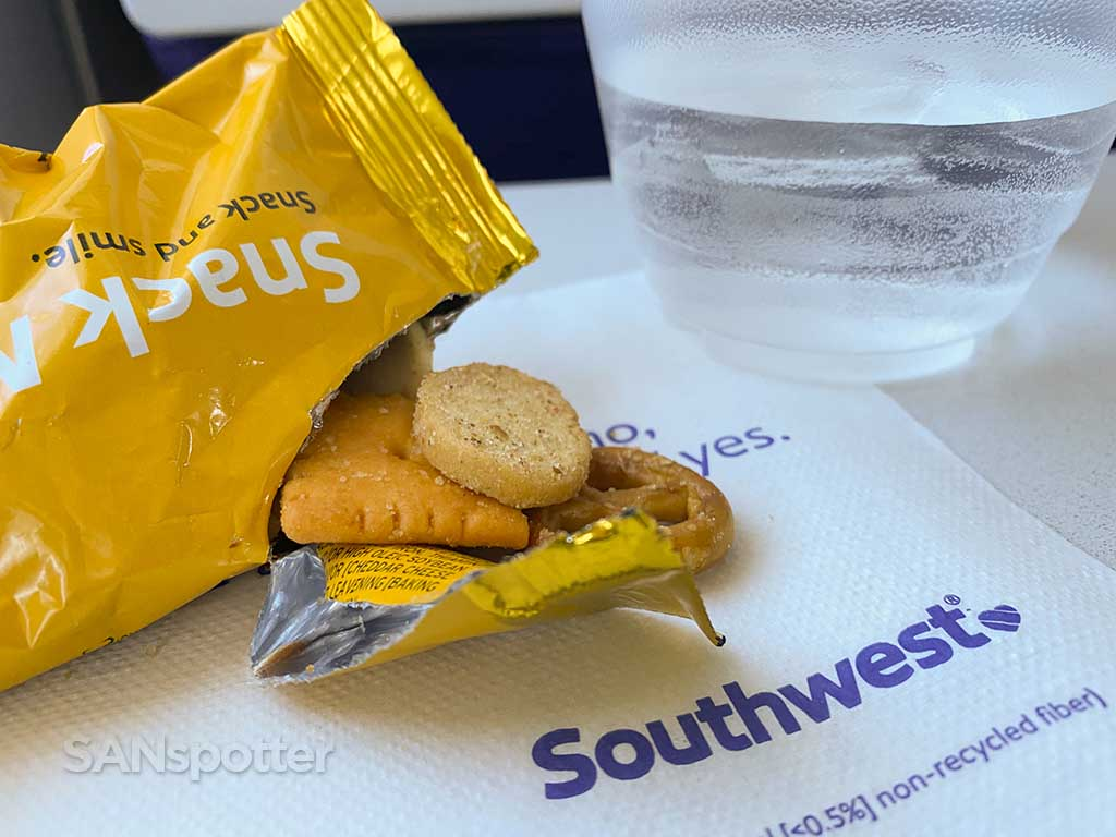 Southwest Airlines snack mix bag