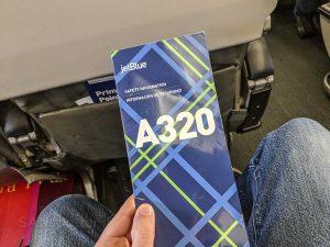 Jetblue A320 leg room