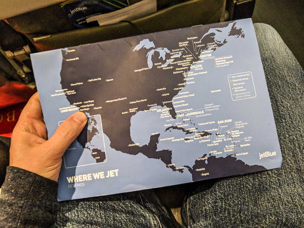 JetBlue destination map