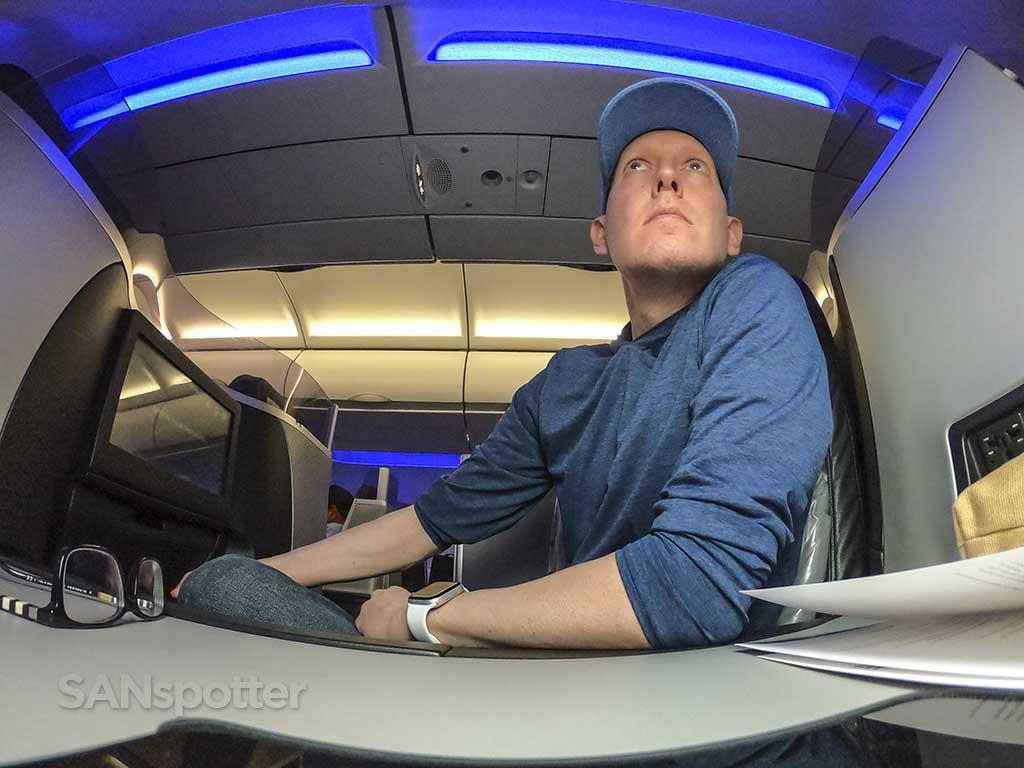 SANspotter jetblue mint seat 4A