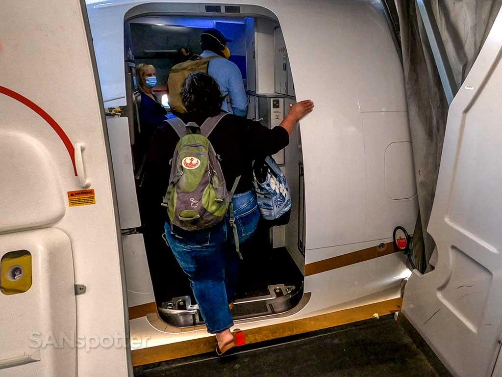 United Airlines 737-9 MAX boarding door