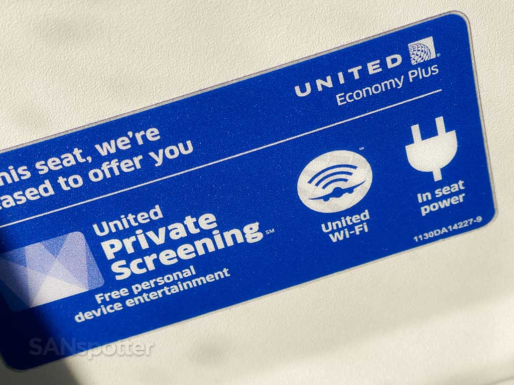 Free streaming and wifi United Airlines
