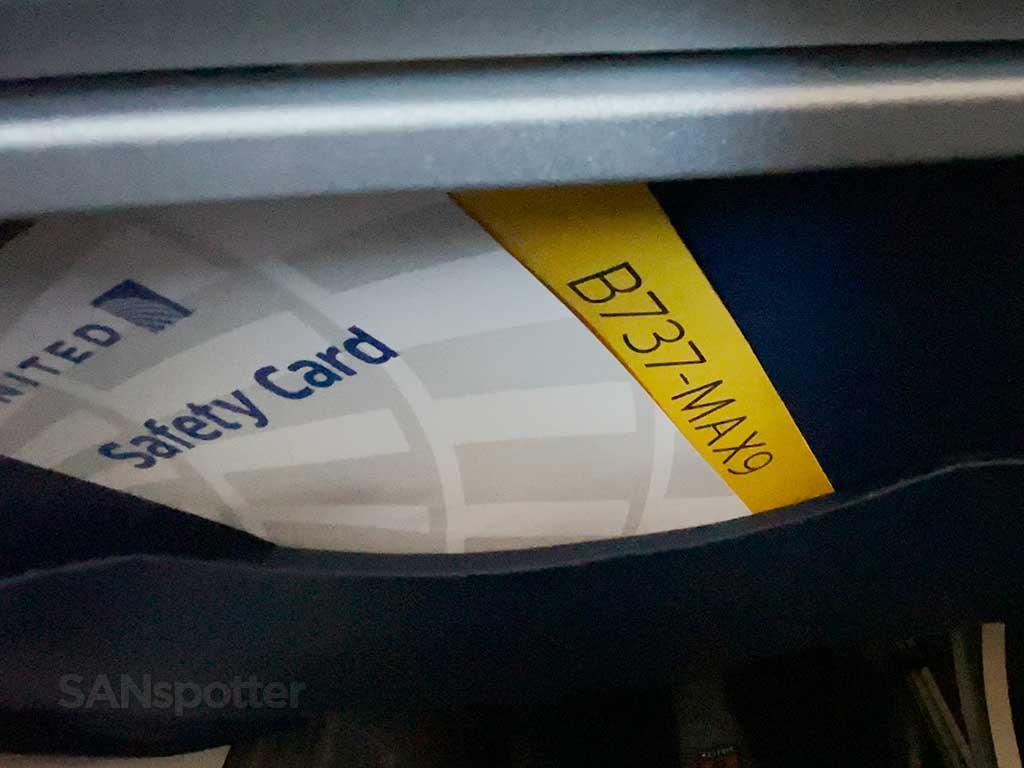 737 max 9 safety card pocket