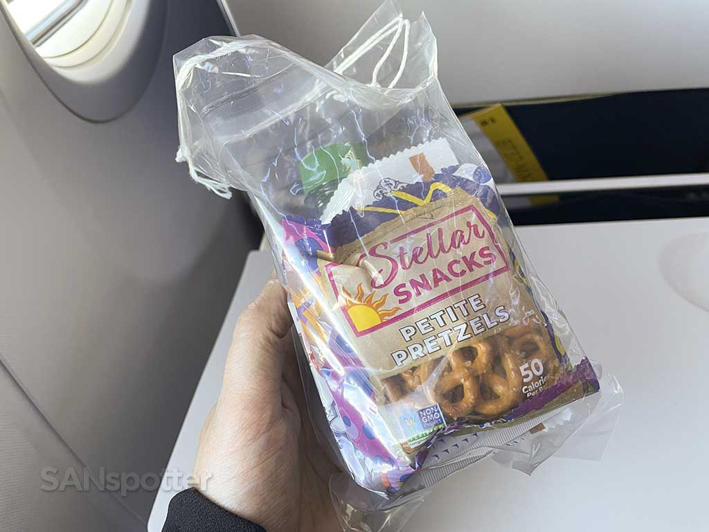United Airlines pre packaged snacks