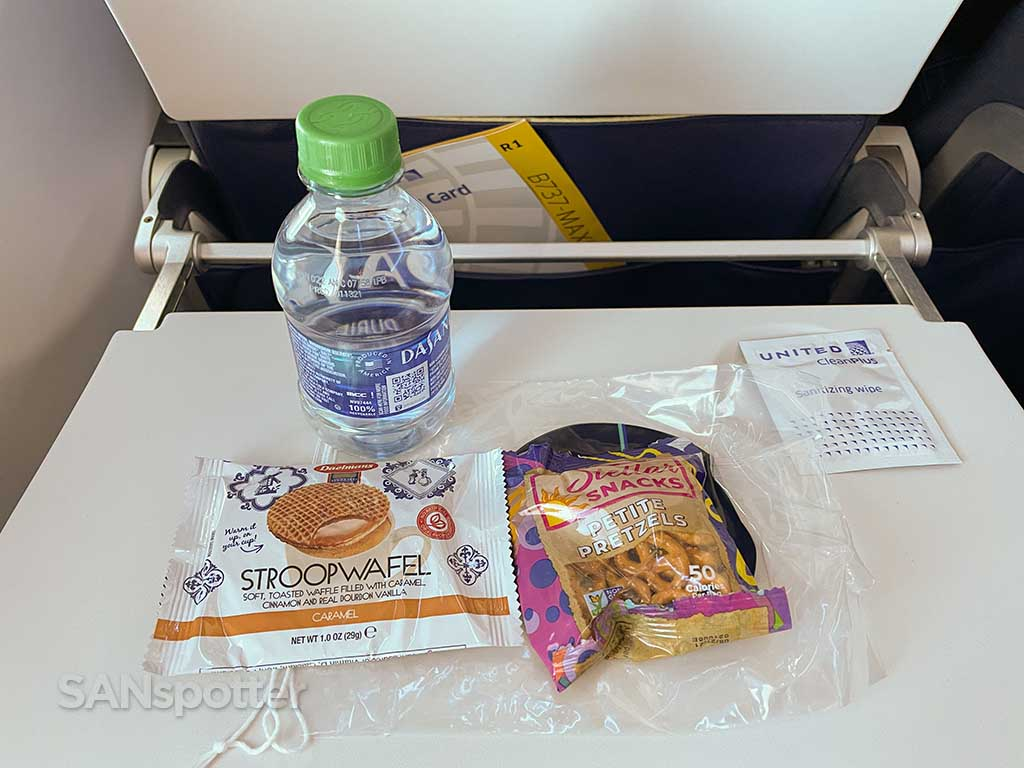 United airlines snack selection