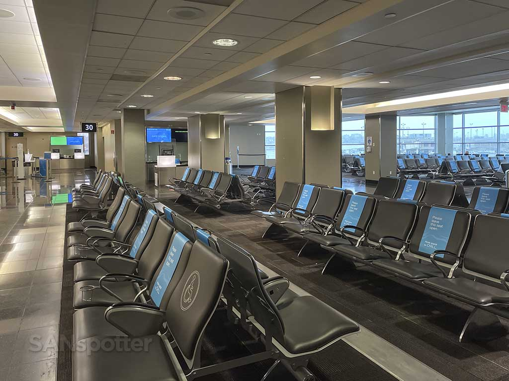 Empty San Diego airport Terminal 2 east