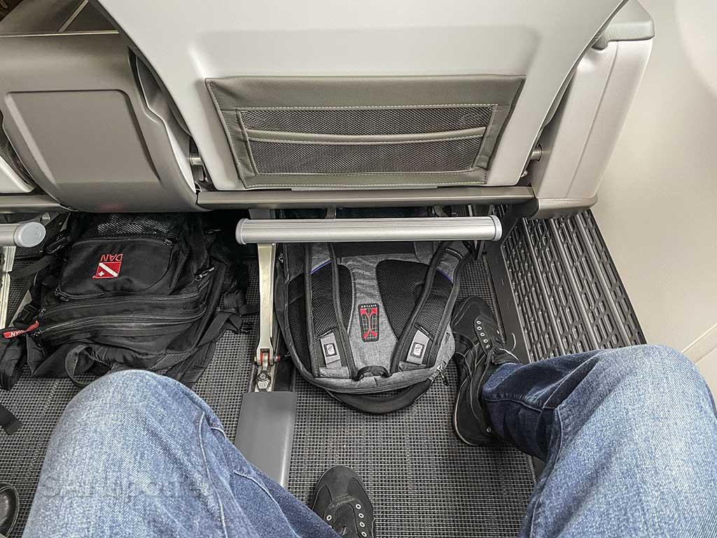 New Alaska Airlines first class leg room