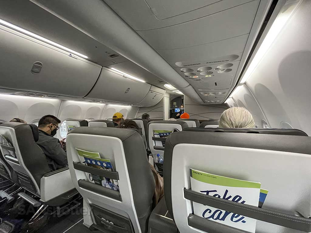 Alaska Airlines 737 MAX first class cabin
