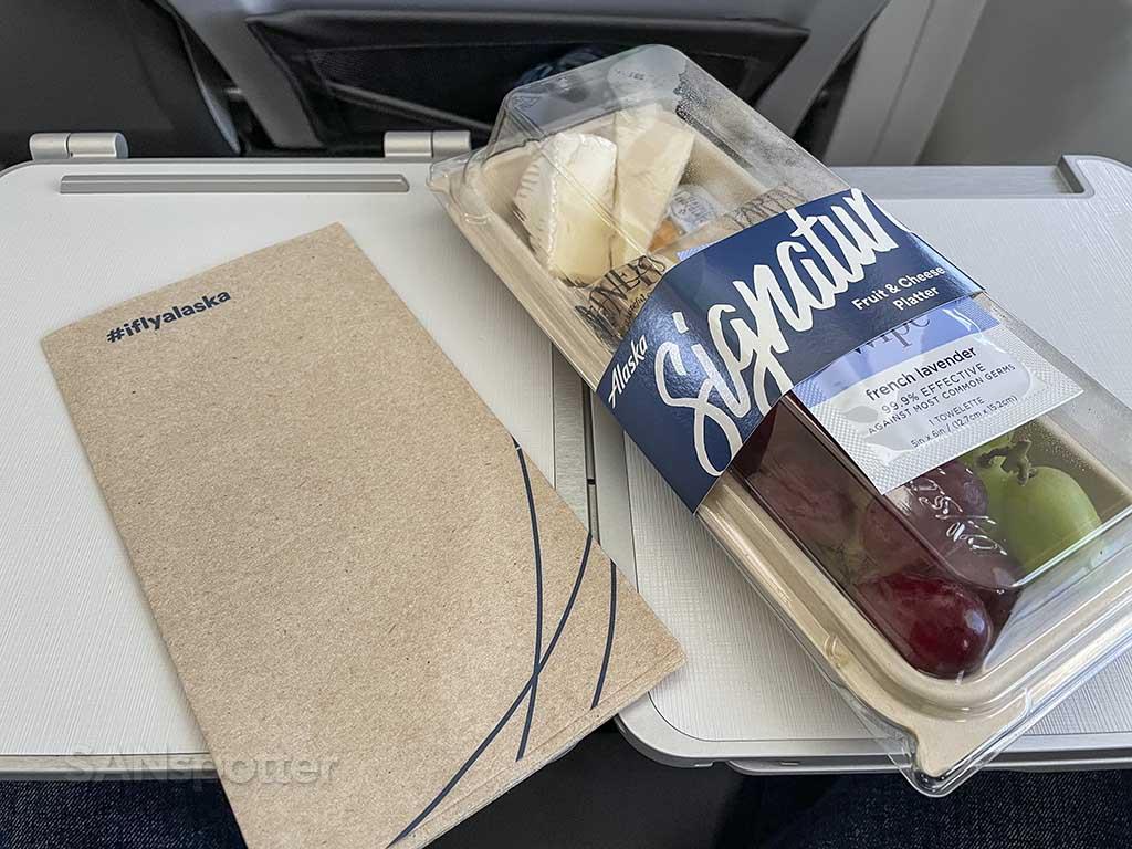 Alaska Airlines first class food