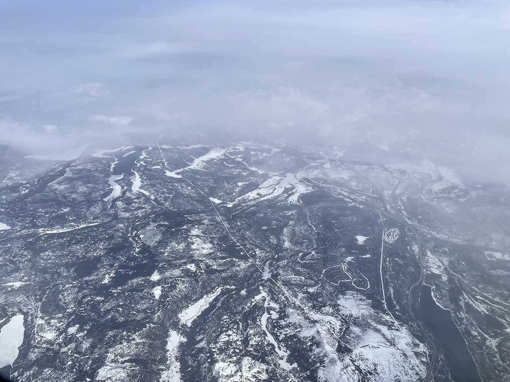 View of Sierra Nevada mountains