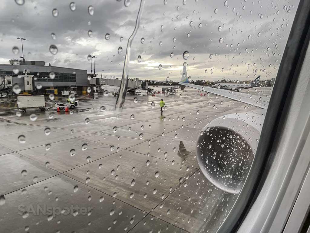 Rainy San Diego airport