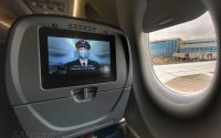 Delta A220-300 window and video screen