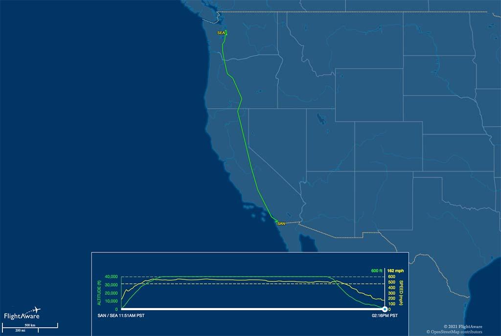 AS539 flight track