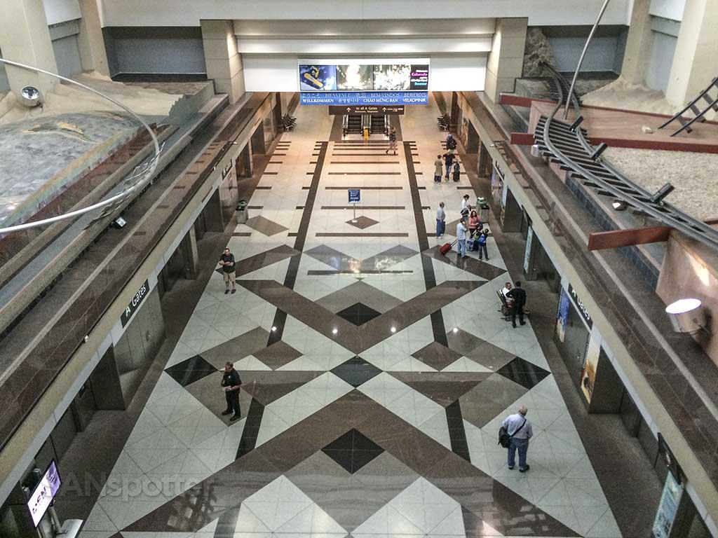 Denver airport inter-terminal train station