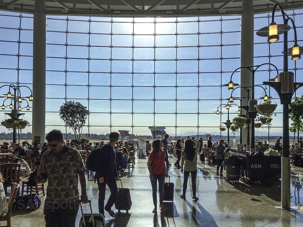 seattle airport atrium