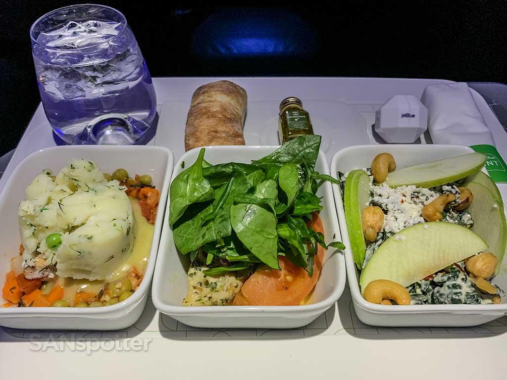 JetBlue Mint food pic